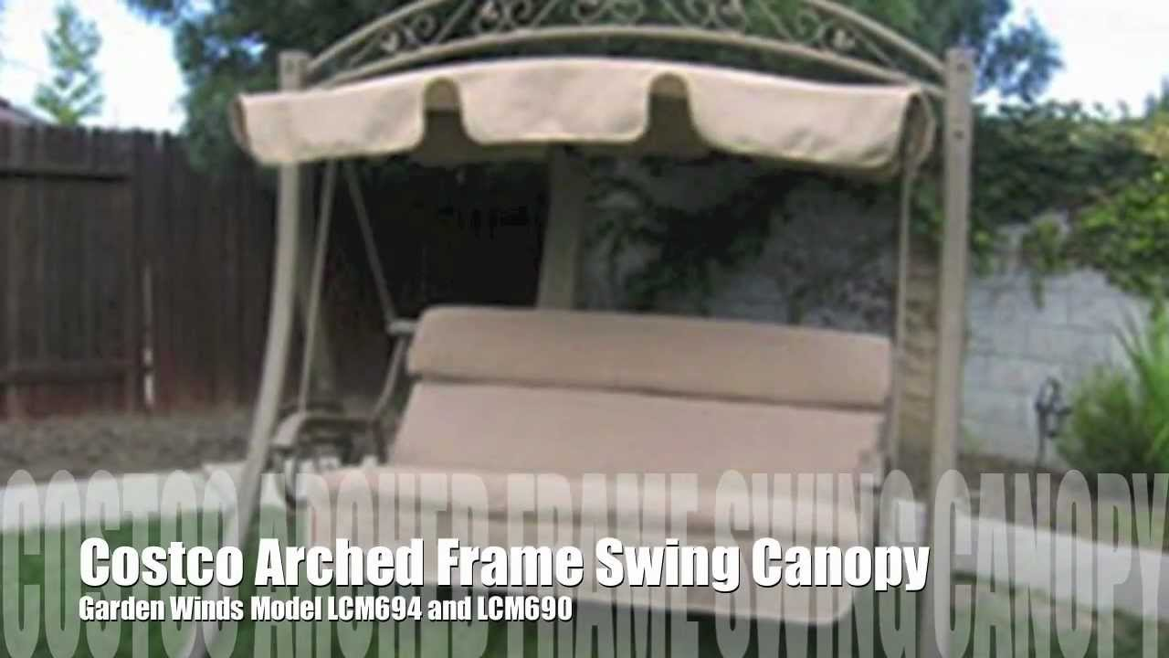 Beau Costco Arched Frame Swing Replacement Canopy From Garden Winds