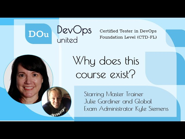 DevOps United CTD FL   Why does this course exist?