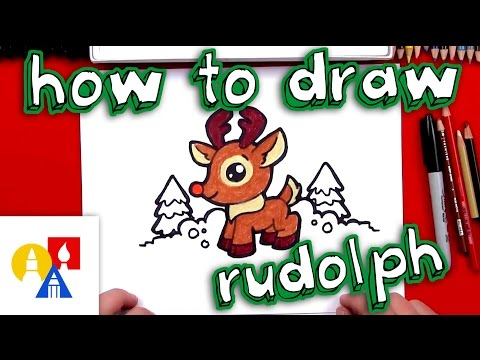 How To Draw Cartoon Rudolph