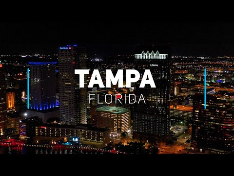 Tampa by night, Florida | 4K drone footage