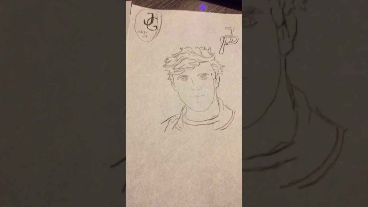 How to draw jake paul tony tutorial