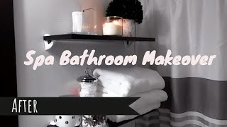 SMALL BATHROOM MAKEOVER I SPA LUXURY BATHROOM DECOR!