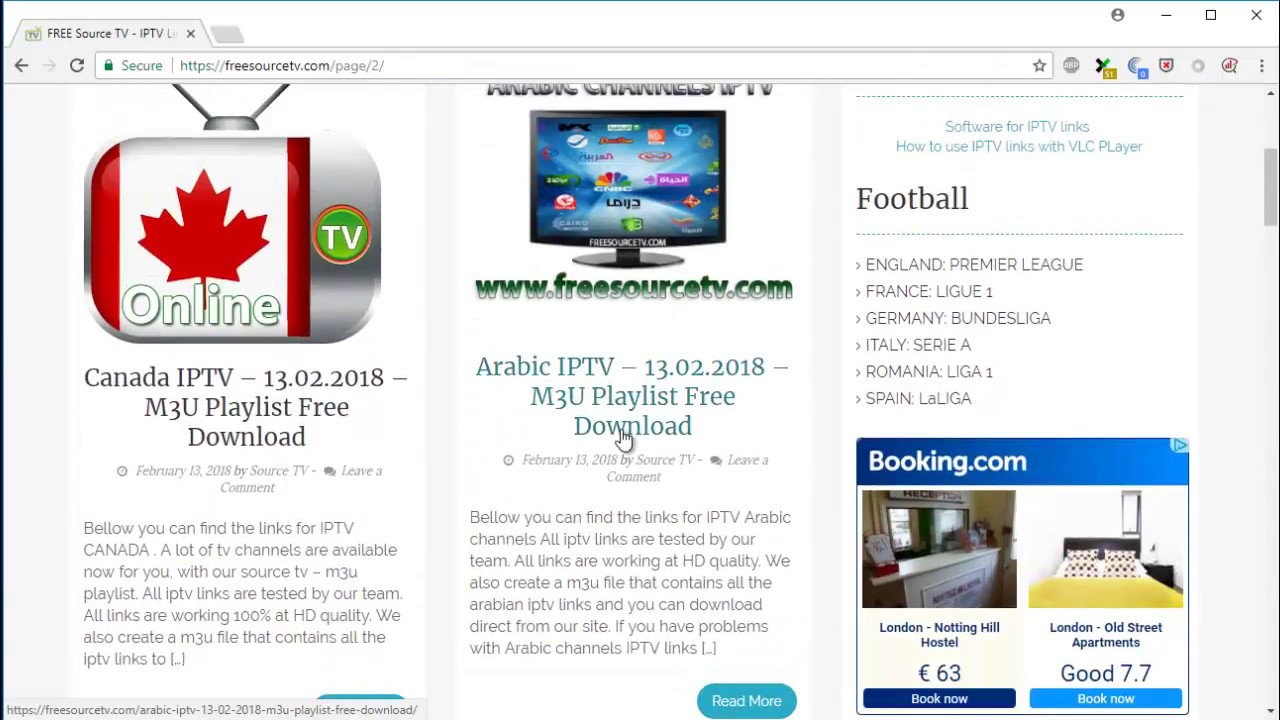 Arabic IPTV Links - FREE Source TV