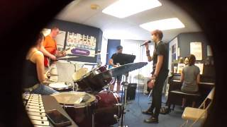 """WMA Teen Rock Band practice: """"Out of Time,"""" original song"""