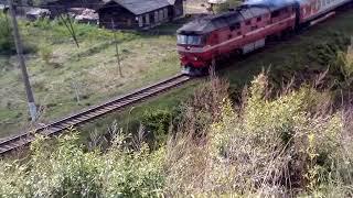 ТЭП 70 с пригородным поездом Алапаевск - Екатеринбург