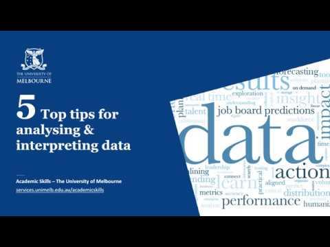 Analysing, interpreting and presenting data