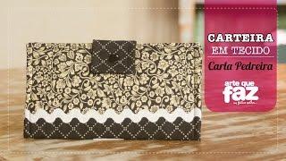 Carteira em tecido – Por Carla Pedreira