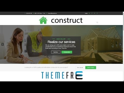 CONSTRUCT Wordpress Theme for Construction, Renovation, Building, Business, Contractor, Architect