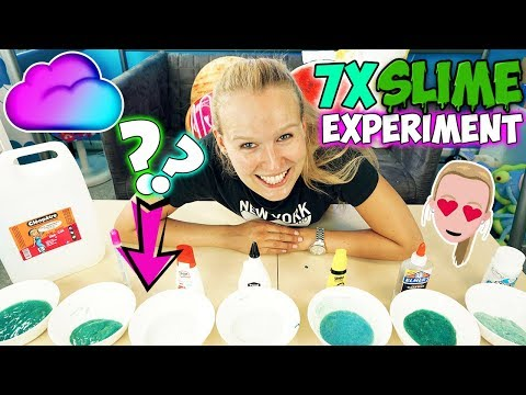KATHIS SLIME EXPERIMENT Welcher Klebstoff ist der Beste? 7xSchleim mit verschiedenen Klebern im Test
