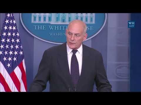 John Kelly's EMOTIONAL White House Press Briefing