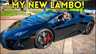 I BOUGHT MY DREAM CAR! 2020 LAMBORGHINI HURACAN EVO SPYDER!!!