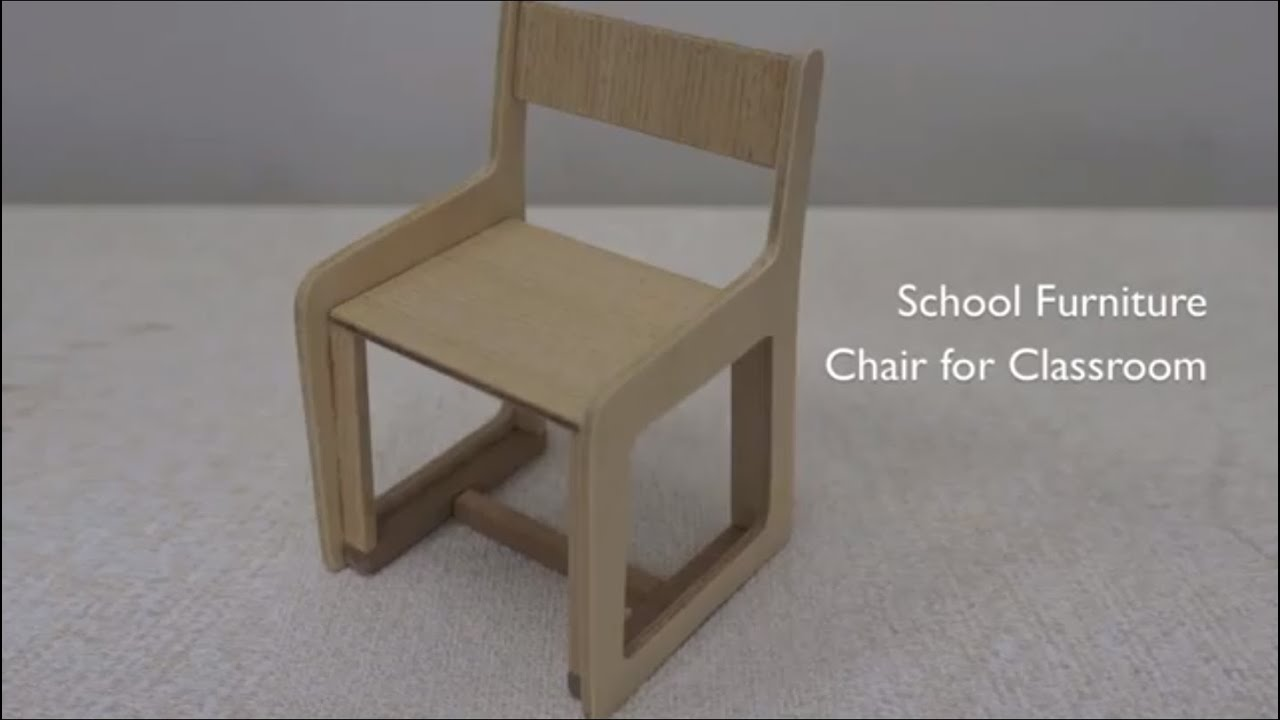 004 2 school furniture chair scale model youtube Scale model furniture