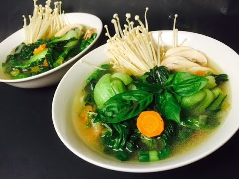 HOW TO MAKE CHINESE VEGETABLE SOUP
