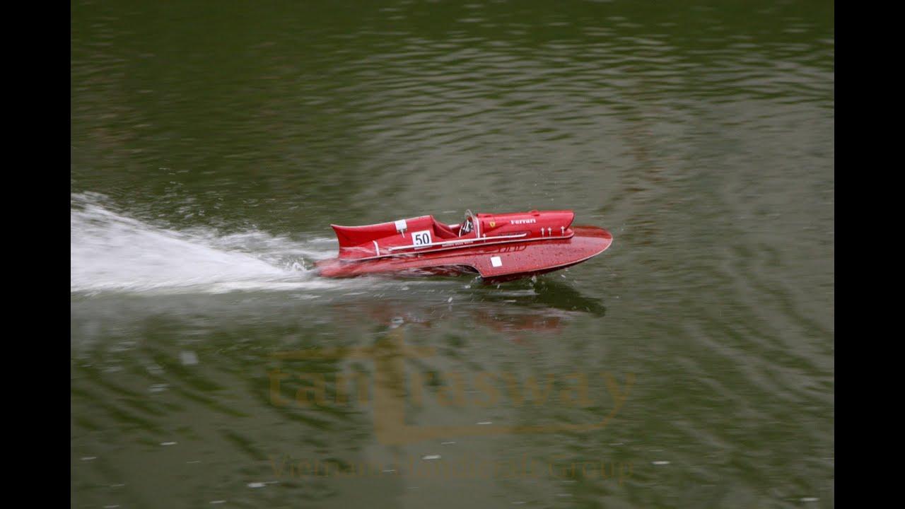 Timossi-Ferrari 'Arno XI' Hydroplane Radio Controlled - tantrasway racing RC model - YouTube
