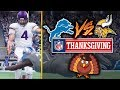 NFL on Thanksgiving 11/23/2017 - Detroit Lions vs Minnesota Vikings Early Game (Madden 18 Gameplay)