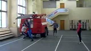 This firefighter can climb a ladder faster than you can fall off of one