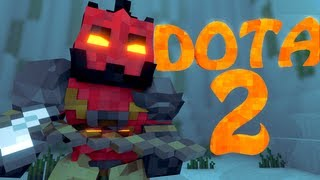 Minecraft: DOTA 2 Mod Showcase! (MOBA MOD with Armour, Weapons & Specials)