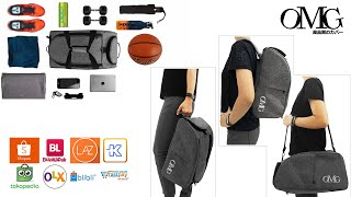 gym bag OMG waterproof men large size basketball tas olahraga backpack