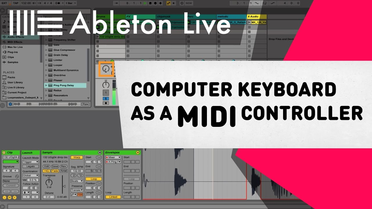 Ableton Live Tutorial - Computer Keyboard as a MIDI Controller