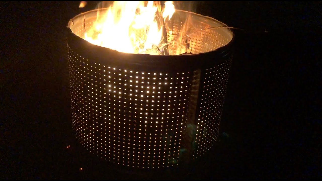 Building a Dryer Drum Fire Pit for Free. - YouTube