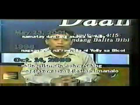 tamang daan The ang dating daans rivalry with another religious television program, the iglesia ni cristos ang tamang daan, is well known.