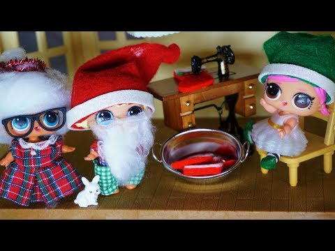 LOL SURPRISE DOLLS Meet Santa Clause And Mrs. Clause, Lol Dolls Tour Toy Shop!