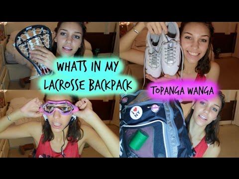 Whats In My Lacrosse Backpack - Topanga Wanga