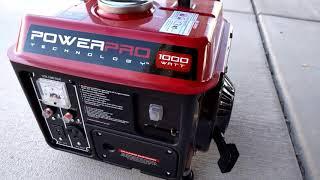 Power Pro Technology 1000 Watt Generator - Running a full size LG refrigerator