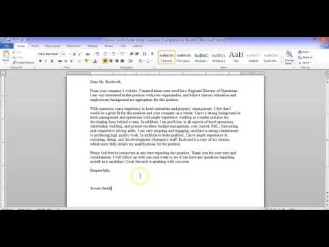 Business Communication - Creating Cover Letters, Resumes, & References