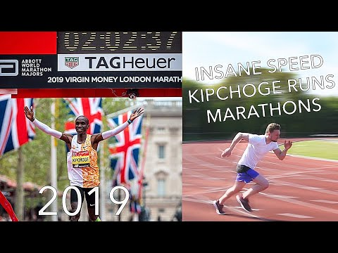 This Is How Fast Kipchoge Ran To Win The 2019 London & 2018 Berlin Marathons