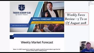 Weekly Forex Review 5 To 10 August 2018 -  By Vladimir Ribakov