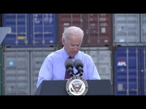 Vice President Joe Biden visits Port of Charleston