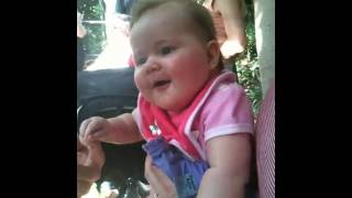 Ruby laughing at Michelle on zoo day!