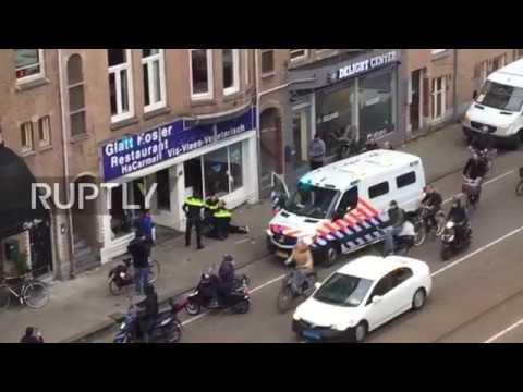 Netherlands: Man with Palestinian flag smashes windows of Kosher restaurant in Amsterdam