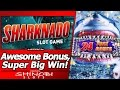 Sharknado Slot - Super Big Win in Long, Awesome Free Spins Bonus with Re-Trigger/Multiple features