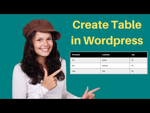 How to create a table in WordPress Page or Post thumbnail