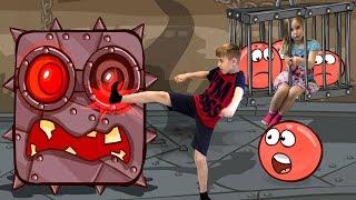 Новый КРАСНЫЙ ШАРИК против ЗЛОГО ЧЕРНОГО КВАДРАТА ФИНАЛ ГЛАВНЫЙ БОСС Red Ball 4 BOSS Видео для детей