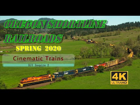 Oregon Shortline Railroads (4K)   Spring 2020   DJI Inspire 2