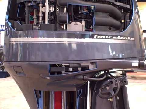 Yamaha F350 Outboard Cut Away at the 2008 Miami Boat Show