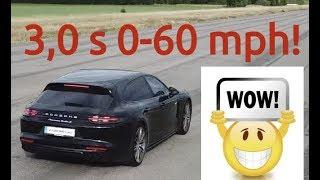 3,2 s BRUTAL 680 HP Porsche Panamera Turbo S 0-100 km/h LAUNCH  ACCELERATION! Sport Turismo ROCKET!