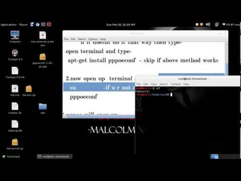 how to configure a pppoe connection in kali linux/debian