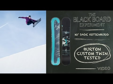 The Blackboard Experiment: Snowboard Review with Sage Kotsenburg - 2017 Burton Custom Twin