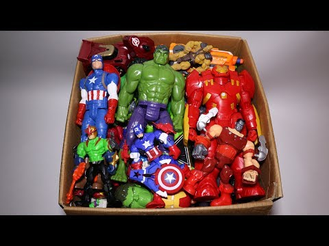 Box of Toys: Marvel Mashers, Cars, Hulk, Iron Man, Captain A