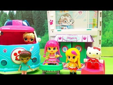 Nuove Avventure Con Dottoressa Peluche , Hello Kitty Bambola - Lol Surprise