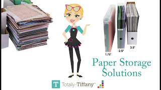 Choosing the perfect paper storge solutions for your scrapbooking, cardmaking and crafting paper.