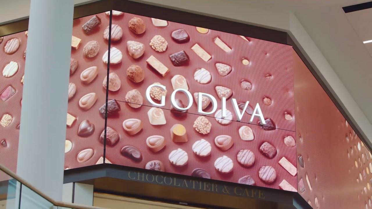 ce9b4bd86 Godiva Café & Boutique Video Wall - YouTube