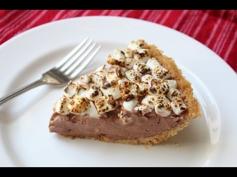S'more Ice Cream Pie - Frozen Graham Cracker, Chocolate, Marshmallow Pie