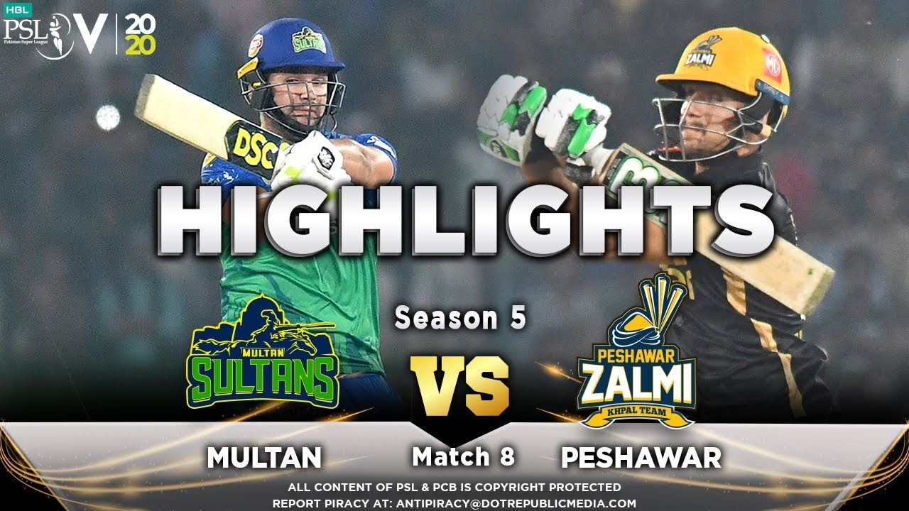 Multan Sultans vs Peshawar Zalmi | Full Match Highlights | Match 8 | 26 Feb | HBL PSL 2020