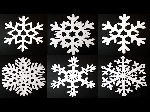 How to make 6 pointed PAPER SNOWFLAKES: EASY and AMAZING results! By Art Tv