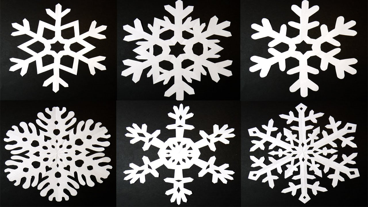 How to make 6 pointed PAPER SNOWFLAKES: EASY and AMAZING ...